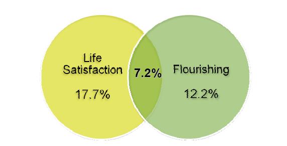 correlazione tra la soddisfazione di vita e il Flourishing